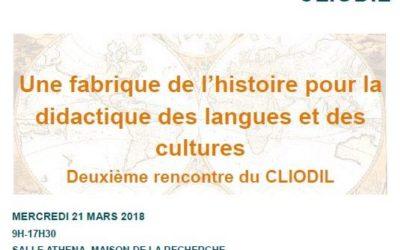 CLIODIL: Une fabrique de l'histoire pour la didactique des langues et des cultures
