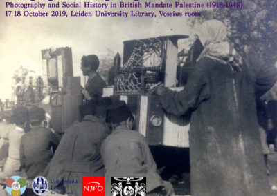 16-18/10/2019 Imaging and Imagining: Photography and Social History in British Mandate Palestine (1918-1948)