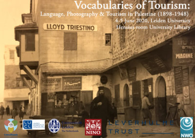 4-5 June 2020 – Vocabularies of tourism. Language, Photography and Tourism in Palestine (1898-1948)